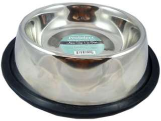 Non Tip Dog Bowl Stainless Steel Pet Dish Mirror Finish