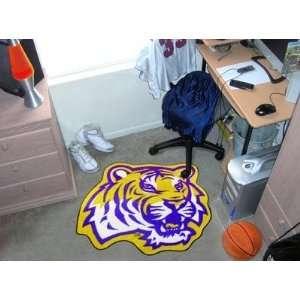 Louisiana State LSU Tigers Mascot Logo Throw Rug/Door Mat