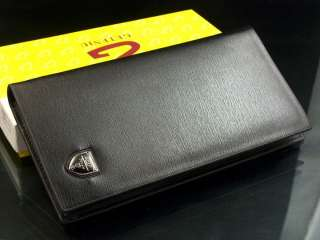 Black/Coffe Mens Leather Long Wallet Pockets Card Clutch Cente Bifold