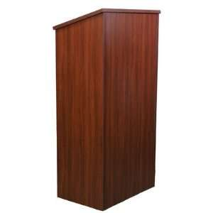 One Piece Full Height Stand Up Lectern Without Sound in