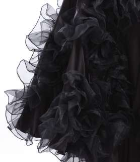 NEW Latin Ballroom Dance dress Flamenco skirt #HB108 Black