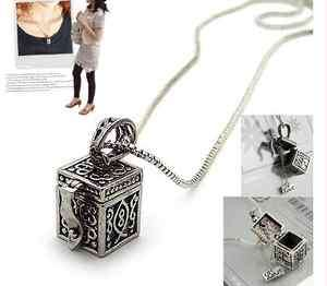New Fashion Jewelry Womens Love Pandoras Box Necklace Chain