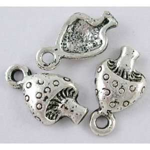 DIY Jewelry Making 10 pcsTibetan Silver Pendant mushroom