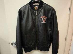 Harley Davidson Fletchers H D Leather Bomber Jacket