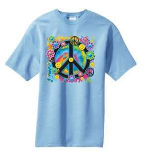 Peace Sign Flower T Shirt S  6x