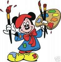 Mickey Mouse the Painter #45 8x10 Iron on Transfer