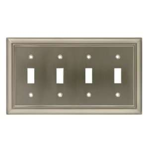 Architectural Quad Switch Wall Plate