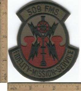 USAF 509th FMS Field Maintenance Squadron Patch 509 FMS