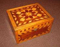 Antique American Folk Art Jewelry Box Circa 1890