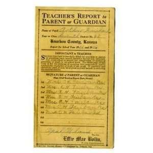 Certificate of Promotion Bourbon County Kansas 1925