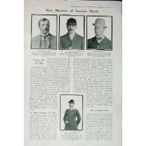 1907 Fox Hounds Lord Lonsdale Horses Men Allen Sowler
