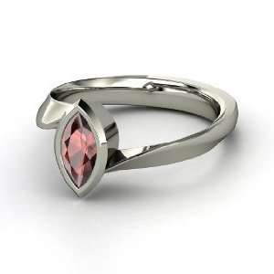 Magic Marquise Ring, Marquise Red Garnet Sterling Silver Ring Jewelry