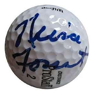 Nina Foust Autographed / Signed Golf Ball