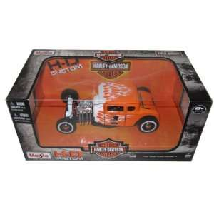 Davidson Orange With Flames #1 1/24 by Maisto 32175 Toys & Games