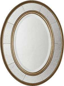 Wall Vanity MIRROR ANTIQUED CHAMPAGNE FINISH French Country