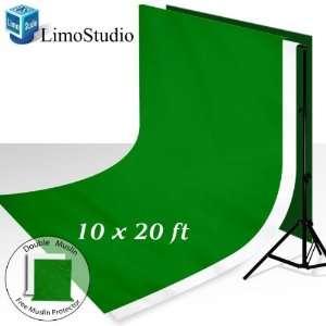 Backdrop Support System Kit + 10 X 20 100% Cotton Green Chroma Key