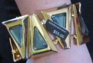 BANANA REPUBLIC GOLD PLATED STONE BRACELET $55.00