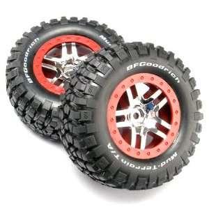 Chrome Wheels Mud Terrain Tires Assembled Slash 4x4 Toys & Games