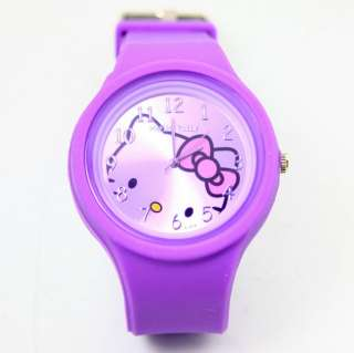 KITTY jelly Silicone Watches ODM hellokitty wristwatch round colorful