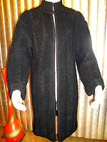VTG RARE FUZZY! AMAZING! SOFT MOHAIR COAT BLACK COLOR M