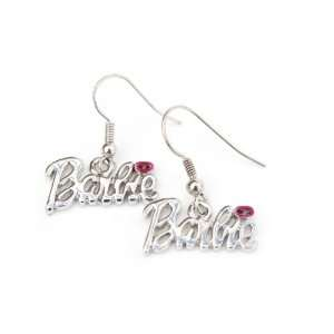 Nicki Minaj Barbie French Hook Earrings with Pink Kiss