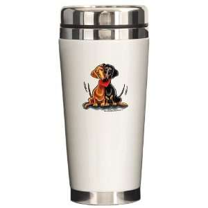 Smooth Dachshund Lover Funny Ceramic Travel Mug by