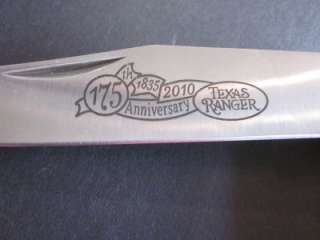 Schrade Texas Ranger 175th Anniversary Trapper Knife