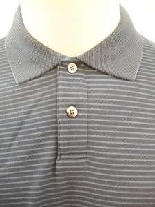 Geoffrey Beene Blue Gray Long Sleeve Polo Size Medium