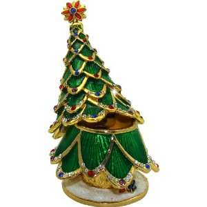 Objet DArt Release #352 Evergreen Holiday Christmas Tree Handmade