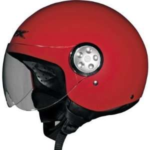 AFX FX 42 Pilot Open Face Motorcycle Helmet Flat Red Extra