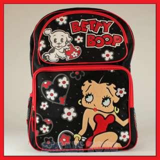 16 Betty Boop Flower School Backpack   Bag Girls Puppy