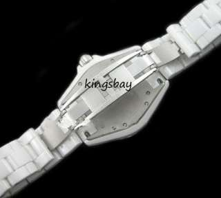 New Fashion Sapphire Crystal Lady Girls High Quality White Ceramic
