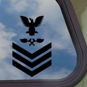 USN E 6 Petty Officer 1st Class Navy Black Decal Sticker