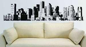 New York City NYC Skyline Mural Wall Vinyl Decal 7.5 ft |