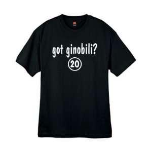 Mens Got Ginobili ? Black T Shirt