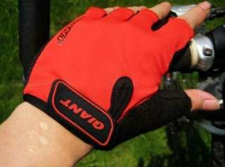 2012 New Sport Bike Cycling Bicycle Gloves Half Finger Red Size M L XL