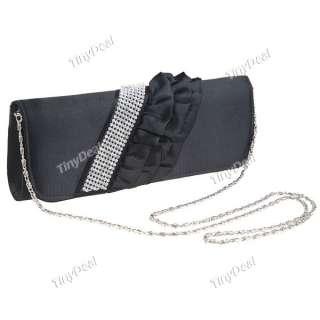 Pleated Satin Evening Party Handbag Clutch Bag NBG 55345