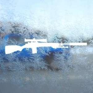 M14 M21 Crazy Horse M21A5 Rifle White Decal Car White
