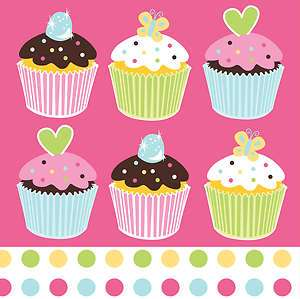 Sweet Treat Party Napkins Cupcake Party Lunch Napkins