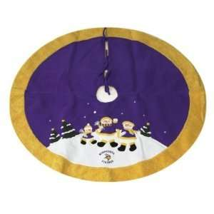 Vikings NFL Snowman Holiday Tree Skirt (48) Sports & Outdoors
