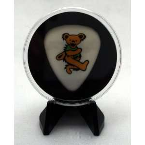 Grateful Dead Brown Dancing Bear Guitar Pick With MADE IN USA Display