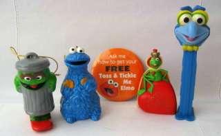 Muppets Henson 2 Christmas Ornaments,Hallmark Mini Kermit Figure