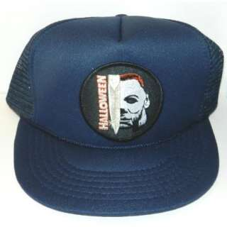 Halloween Michael Myers Face and Knife Name Patch Baseball Hat, NEW
