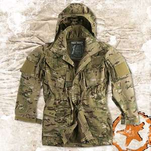 HELICON ARMY FIELD PARKA, WINDPROOF COMBAT JACKET/ SMOCK, MULTICAM
