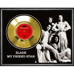 Slade My Friend Stan Framed Gold Record A3 Musical