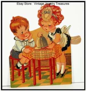 Victorian Repro Valentine Card Decor~Shackman~Moving Die Cut~Heart