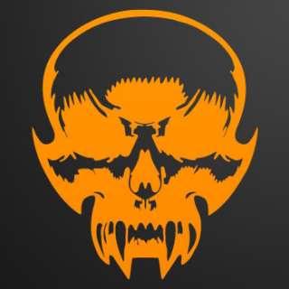 Moto Decal Sticker Demon Motorhead skull devil ZE526