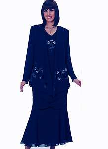 Mother of the Bride Jacket Dress Long Formal Cocktail Dress Gown