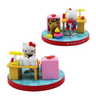 Cute  5x Hello Kitty Casual Time Collection Figure Set NIB