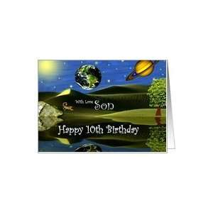 Birthday ~ Son / Age Specific 10th ~ Planet Taro Card: Toys & Games